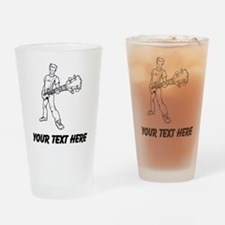 Bass Guitar Player (Custom) Drinking Glass