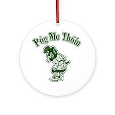 Pog Mo Thoin Leprechaun Ornament (Round)