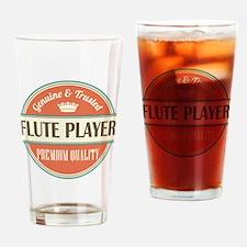 flute player vintage logo Drinking Glass