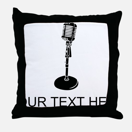 Retro Microphone (Custom) Throw Pillow