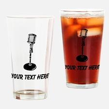 Retro Microphone (Custom) Drinking Glass