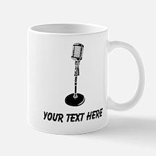 Retro Microphone (Custom) Mugs