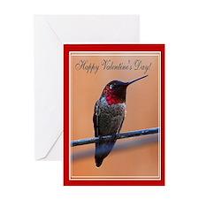 Valentine's Hummingbird Greeting Cards