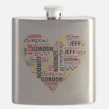 Heart Jeff Gordon Flask