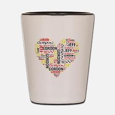 Heart Jeff Gordon Shot Glass