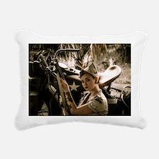 Cute Pinup Rectangular Canvas Pillow