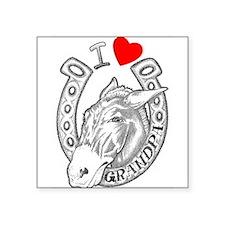 """Cute Heart tattoo Square Sticker 3"""" x 3"""""""