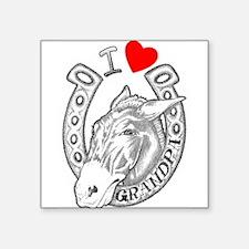 """Funny Mule Square Sticker 3"""" x 3"""""""