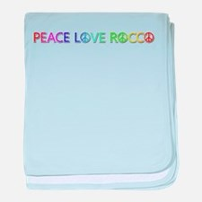 Peace Love Rocco baby blanket