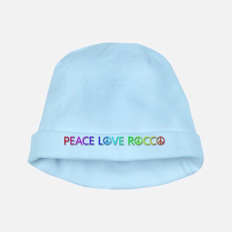 Peace Love Rocco baby hat
