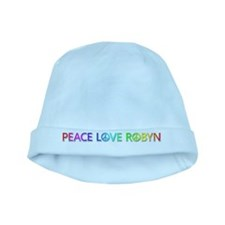 Peace Love Robyn baby hat