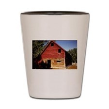 old view of cabin in Montana Shot Glass