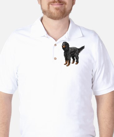 Gordon Setter Standing Golf Shirt