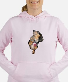 Unique Dog long haired dachshund patriotic Women's Hooded Sweatshirt