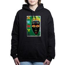 Cute African cave and tribal drawings artwork Women's Hooded Sweatshirt