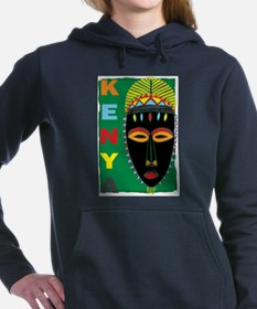 Unique African cave and tribal drawings artwork Women's Hooded Sweatshirt