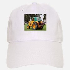 Yellow & green old tractor Baseball Baseball Cap