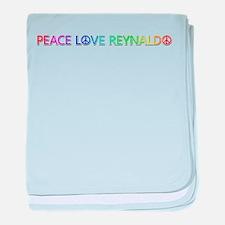 Peace Love Reynaldo baby blanket