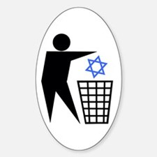 Trash Religion (Jewish Version) Oval Decal