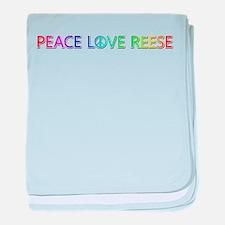 Peace Love Reese baby blanket