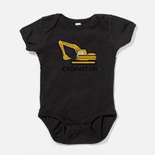 Funny Construction vehicle Baby Bodysuit