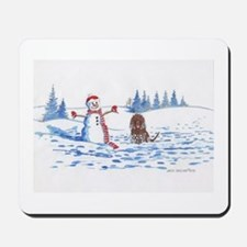 Iws And Snowman #10 Mousepad
