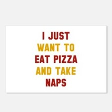 Eat Pizza And Take Naps Postcards (Package of 8)