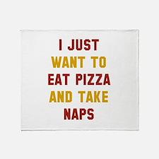 Eat Pizza And Take Naps Stadium Blanket
