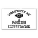 Property of a Fashion Illustrator Sticker (Rectang