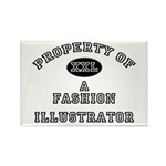 Property of a Fashion Illustrator Rectangle Magnet