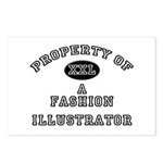 Property of a Fashion Illustrator Postcards (Packa