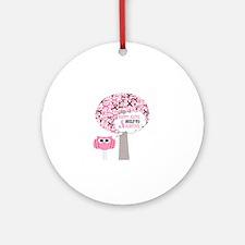 happy & alive breast cancer survivo Round Ornament