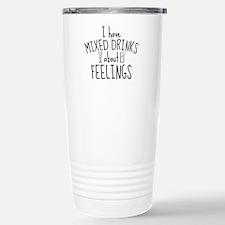 Mixed Drinks About Feelings Ceramic Travel Mug