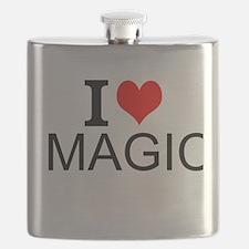 I Love Magic Flask