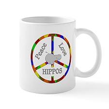 Peace Love Hippos Mug