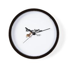 Cute Sheltie rescue Wall Clock