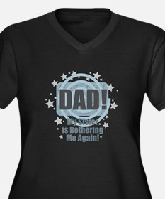 Dad Sister Bother Plus Size T-Shirt
