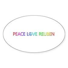 Peace Love Reuben Oval Decal