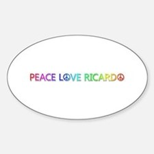 Peace Love Ricardo Oval Decal