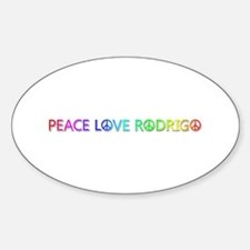 Peace Love Rodrigo Oval Decal