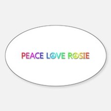 Peace Love Rosie Oval Decal