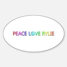 Peace Love Rylie Oval Decal