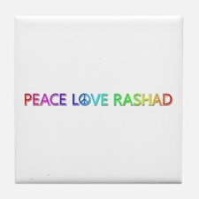 Peace Love Rashad Tile Coaster