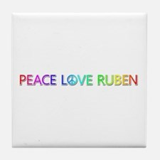 Peace Love Ruben Tile Coaster