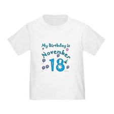 November 18th Birthday T