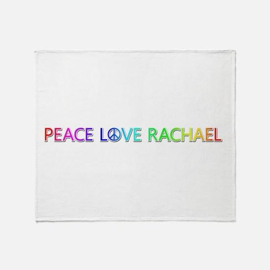 Peace Love Rachael Throw Blanket