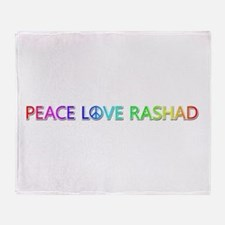 Peace Love Rashad Throw Blanket