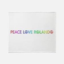 Peace Love Rolando Throw Blanket
