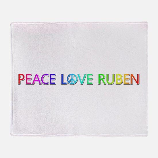 Peace Love Ruben Throw Blanket