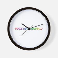 Peace Love Reginald Wall Clock